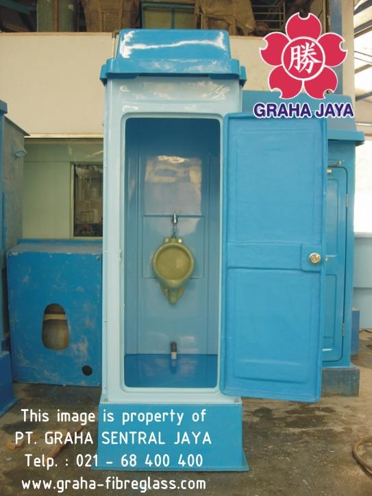 Toilet Portable Fibreglass Tipe B - menggunakan urinal/urinoir
