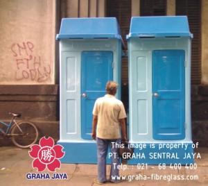 Fiberglass Toilet Portable Sementara untuk proyek pembangunan dan tempat rekreasi