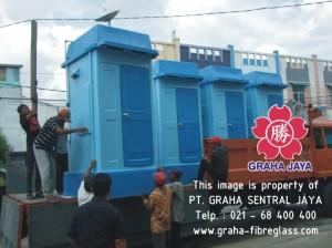 Portable Toilet Fiberglass untuk luar pulau, menggunakan jasa pengiriman ekspedisi