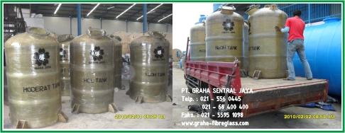 Tangki Kimia Fibreglass / Storage Chemical Tank FRP