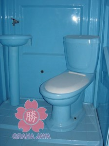 Aksesoris tambahan pada toilet portable (Washtafel & WC Duduk)