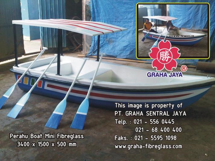 Perahu Dayung Mini Boat Fiberglass