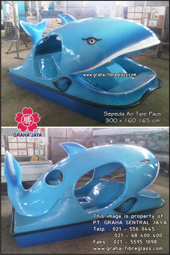 sepeda air water paddle tipe paus